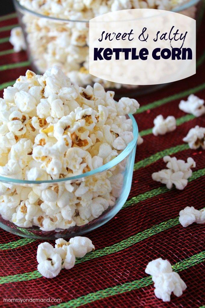 Sweet & Salty Kettle Corn | Mommy on Demand #kettle corn #popcorn #sweet and salty popcorn