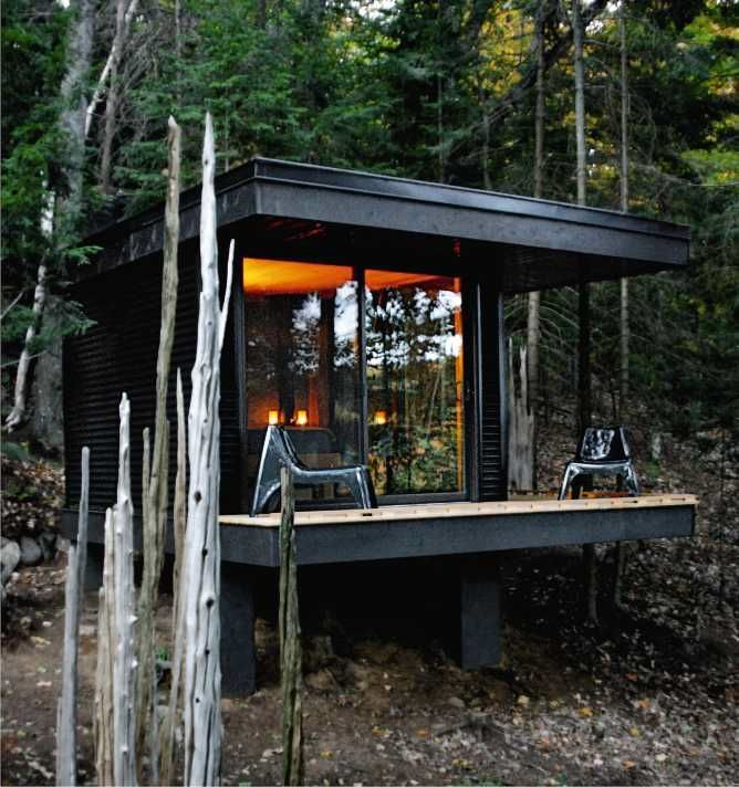 Best 25 small modern cabin ideas on pinterest modern for Contemporary tiny house