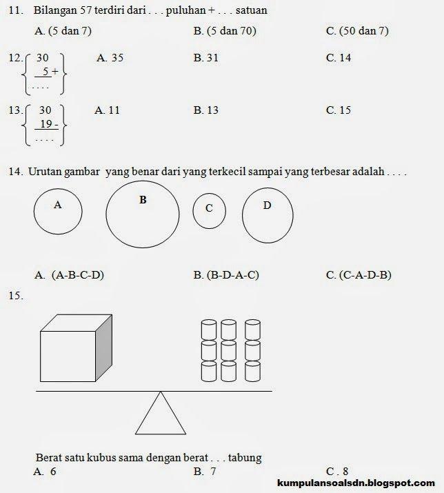 Soal Ujian Matematika Kelas 4 Semester 2