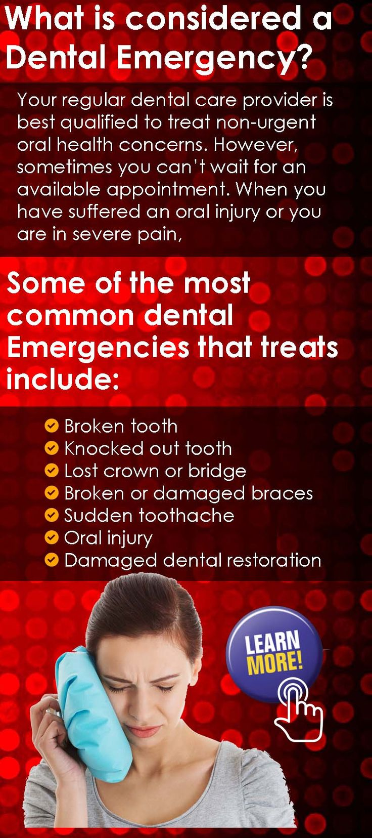 #EmergencyDental #Clinic at #Dental office in #Burlington in #Ontario #Canada provides quick & efficient dental treatments all 7 days of the week. Call 289-301-2424 #oralhealth #healthyliving