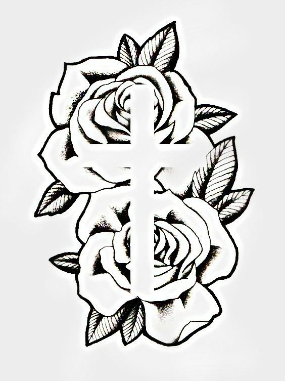 Cross Tattoos For Women, Tattoos For Women Half Sleeve, Arm Tattoos For Guys, Future Tattoos, Sleeve Tattoos, Couple Tattoos, Cross Tattoo Designs, Tattoo Designs Men, Cross Designs