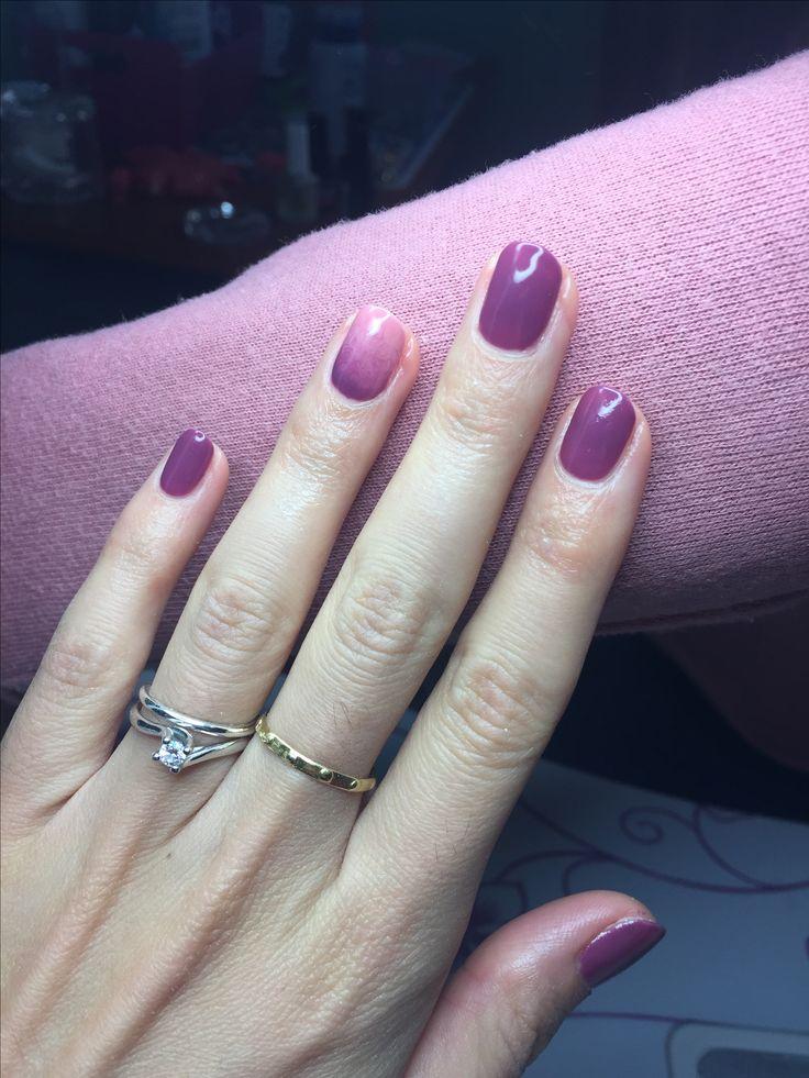 Nail manicure autumn malva talpa nail art rosa antico semipermanente beautiful