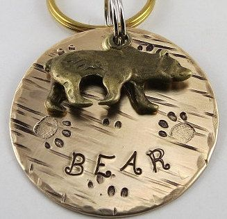 Dog Tags, Pet ID Tags, Bear Dog Tag, Dog Name Tags,Pet Tags, Pet Accessories,Pet Name Tags,Metal Pet Tags,Bear Tag for Dogs, Dog Id Tags