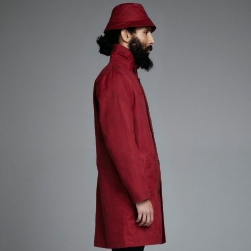 Stutterheim Inferno coat in red