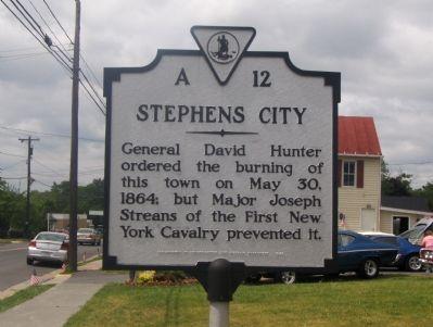 stephens city va images | Stephens City Marker Photo, Click for full size