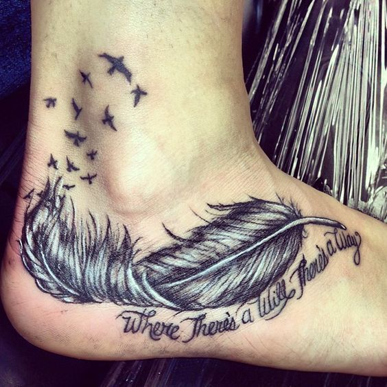 25+ Best Ideas About Feather Tattoo Foot On Pinterest