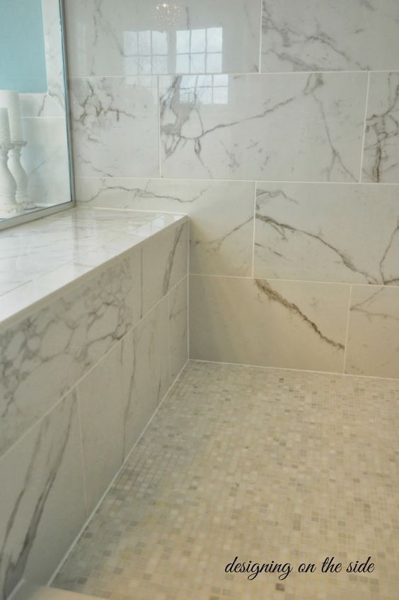 Shower Tiles Are 12 24 Calcutta Marble