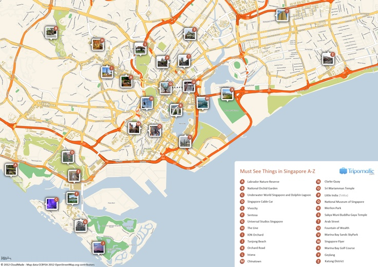 Free Printable Map of Singapore attractions from Tripomatic.com. Get the high-res version at http://www.tripomatic.com/Singapore/Singapore-city/#tourist-map