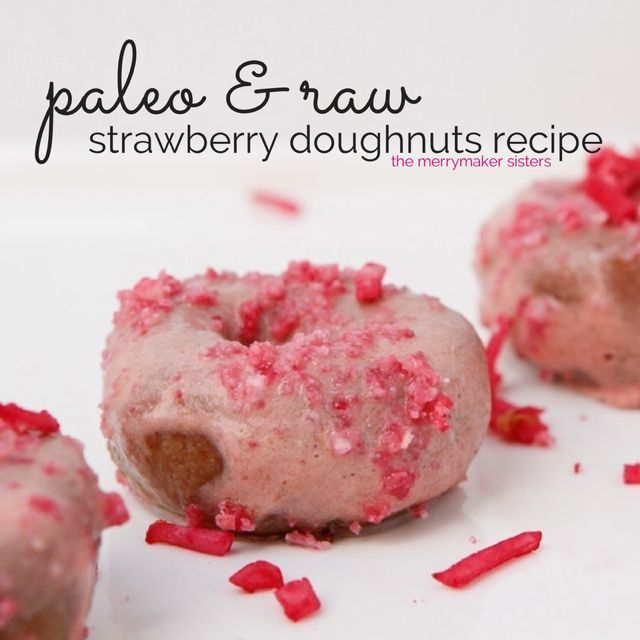 Raw Paleo Strawberry Doughnuts