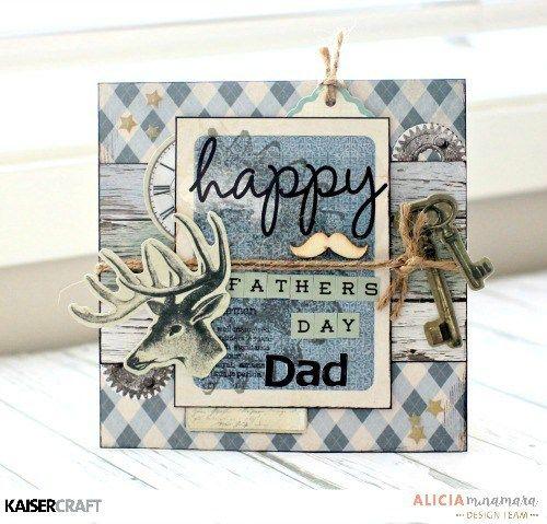 Kaisercraft Barber Shoppe Father's Day Card by Alicia McNamara