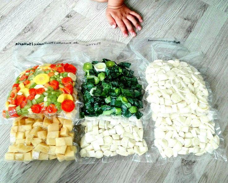Gemüse aus dem Garten , ordnungsgemäß vakuumiert und haltbar gemacht. Mit dem CasoVC10 war alles ganz einfach. #selbstversorger#selfmade#handmade#veggie#vegan#bio#öko#gemüse#pastinake#petersielienwurzel#buntemöhre#möhre#karotte#steckrübe#porre#porree#kinderleicht#gesund#healthyfood#vakuumierer#caso#haltbar