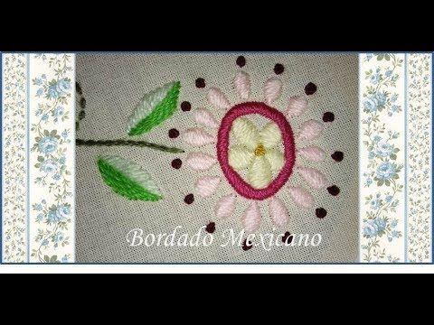 ♥ Bordado Mexicano ♥ Flores que acompañan al pajarito azul ♥ Parte 4 ♥