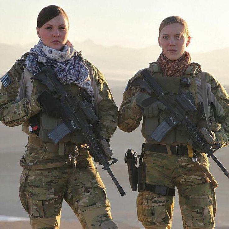 U.S. Army Staff Sgt. Kat Kaelin (left) and 1st Lt. Caroline Cleveland, Afghanistan 2012.