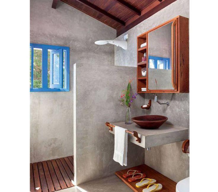 +1000 ideias sobre Banheiro Em Cimento no Pinterest  Pia De Concreto, Banhei -> Como Fazer Pia De Banheiro Com Cimento Queimado
