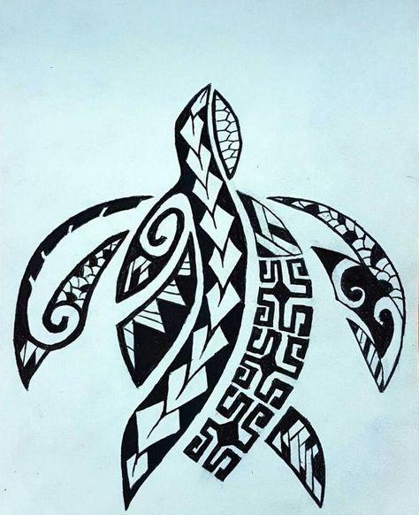 Tatouage Polynesien Homme Femme Tortue Idees Hawaiian Tattoo