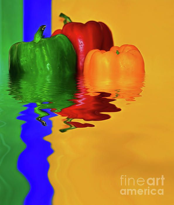 #Color_Pop #Peppers by #Kaye_Menner #Photography Quality Prints Cards Products at: http://kaye-menner.pixels.com/featured/color-pop-peppers-by-kaye-menner-kaye-menner.html