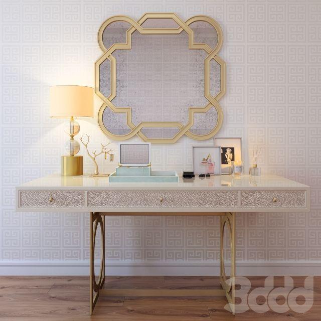 3d модели: Другие предметы интерьера - Декор для туалетного столика. На конкурс.
