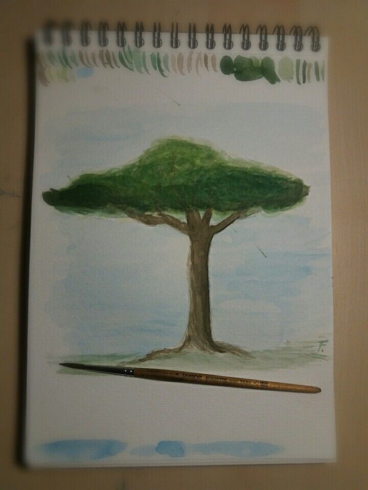 Aquarell Painting - Tree  My first try