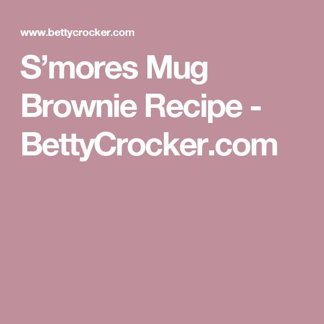 S'mores Mug Brownie Recipe - BettyCrocker.com