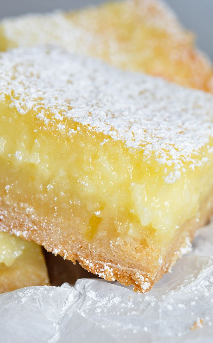 Easy Cake Mix Lemon Bars Recipe - These are the best lemon bars! Simple and…