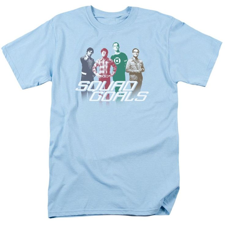 The Big Bang Theory Squad Goals Adult Sky Blue T-Shirt from Warner Bros.: Squad Goals! Need a crew to look up to?… #Movies #Films #DVD Video