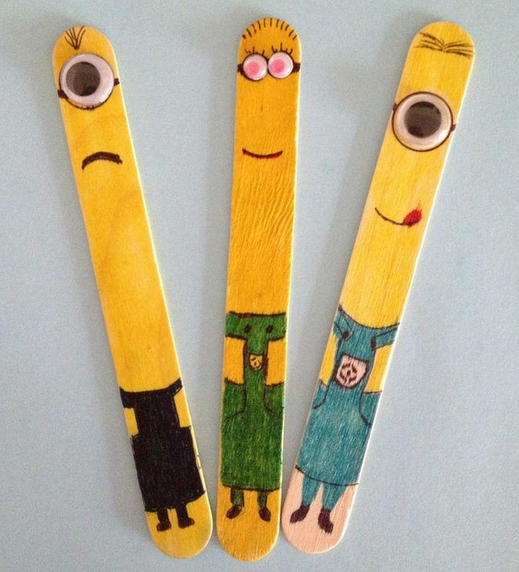 Ice cream stick bookmarks   een beetje anders   Craft ...