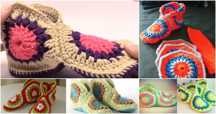 How To Crochet Granny Slippers