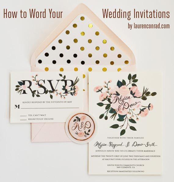 Invitation Etiquette: How To Word Your Wedding Invitations
