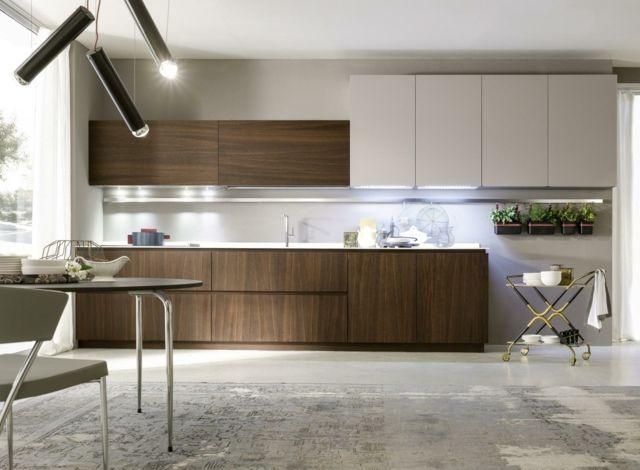 grifflose Schranktüren moderne Optik Küchenzeile