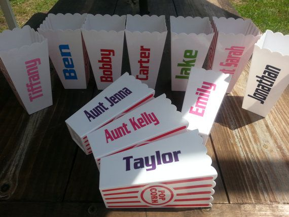 Custom personalized popcorn tubs / cups PERFECT by Customforless
