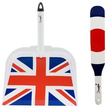 Alice Supply Co Britannia Dustpan & Brush Cleaning Supplies - eclectic - laundry products - Bobby Berk Home