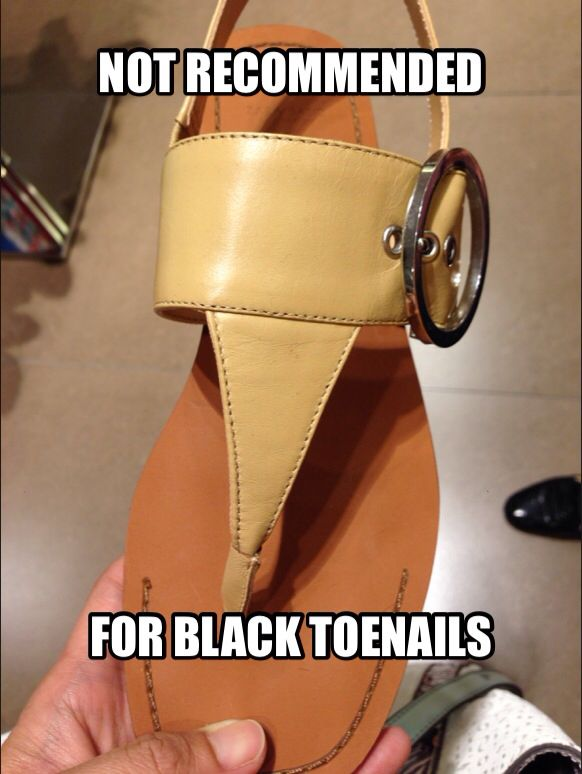 Not recommended for black toenails #runners #toenails
