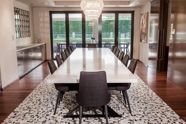 Grand entertainer - Custom Made Caesarstone Dining table for long lunches and big dinners!