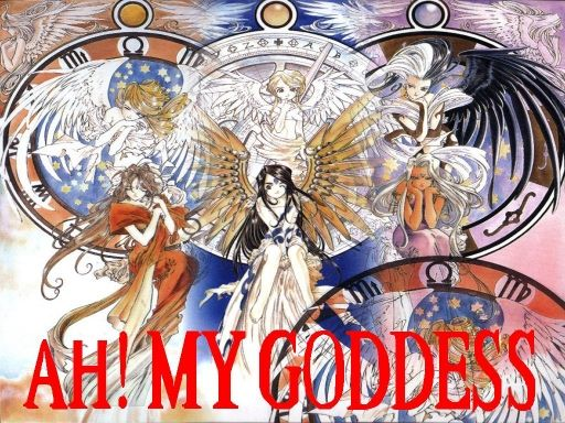 Ah! My Goddess, Belldandy, Skuld, Urd, Holy Bell, Noble Scarlet, & World of Elegance