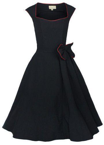 Lindy Bop 'Grace' Classy Vintage 1950's Rockabilly Style Bow Swing Party Dress $37.99 (save $32.00)
