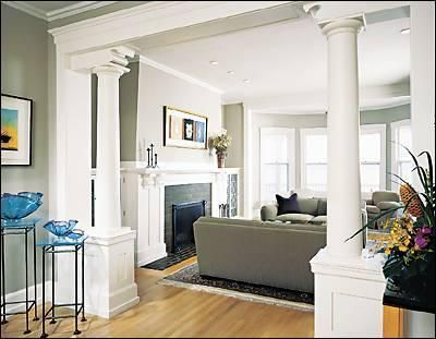 Find this Pin and more on entrance pillars Decorating Challenge Living Room Ideas