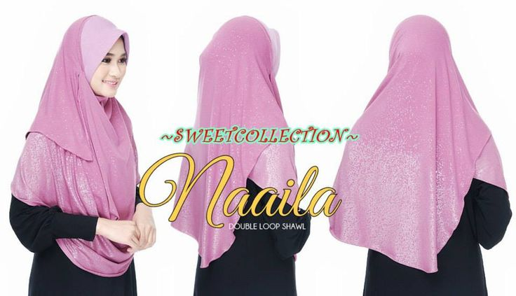 ~SWeetTCOLLeCTION~: ~ SHAWL NAAILA GLITTER (MOSS CREPE) XL ~RM68