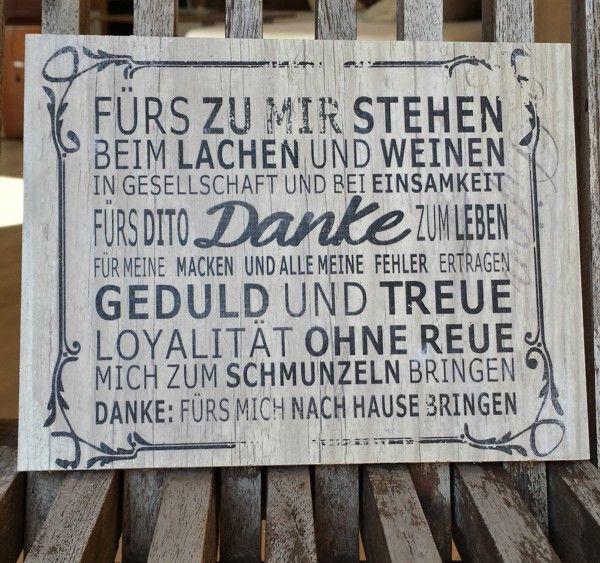 Holz Tafel | Das kleine Stück: Danke sagen von Die Spruchstücke Manufaktur auf DaWanda.com