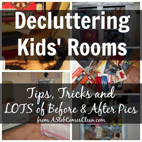 How to Declutter a Kid's Bedroom at ASlobComesClean.com