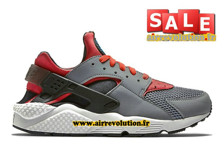 nike air huarache run chaussure nike sportswear pas cher pour homme gris loup cramoisi. Black Bedroom Furniture Sets. Home Design Ideas