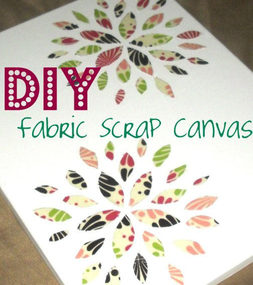 DIY: How to Make Fabric Canvas Art {with Mod Podge}
