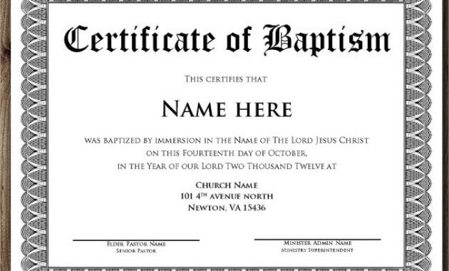 Baptism Certificate Sample Yahoo Image Search Results