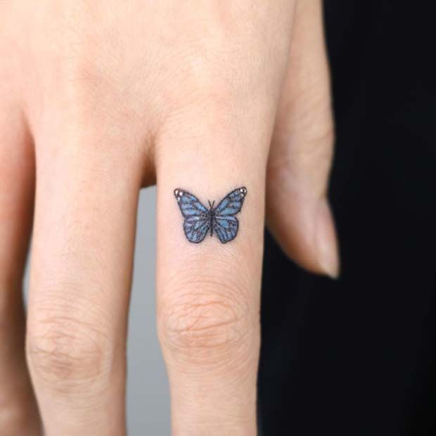61 Pretty Butterfly Tattoo Designs And Placement Ideas Page 5 Of 6 Stayglam In 2020 Finger Tattoo For Women Butterfly Tattoo Simple Finger Tattoo