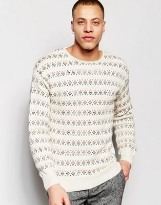 Native Youth | Native Youth Geostitch Detail Knit Jumper