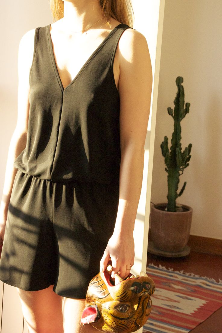 Combi Short *BACK UP* Black Charlotte aire +* Clothing & couture
