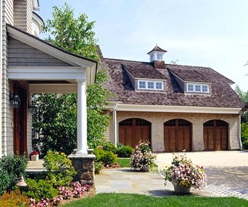 how to make a garage entrance to house attractive