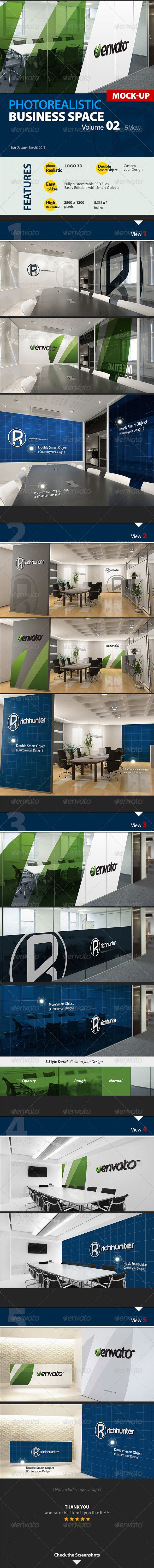Mock-up Logo 3D_Business Space_Vol.2_Richhunter : Check out this great #graphicriver item 'Mock-up Logo 3D_Business Space_Vol.2_Richhunter' http://graphicriver.net/item/mockup-logo-3d_business-space_vol2_richhunter/5266744?ref=25EGY