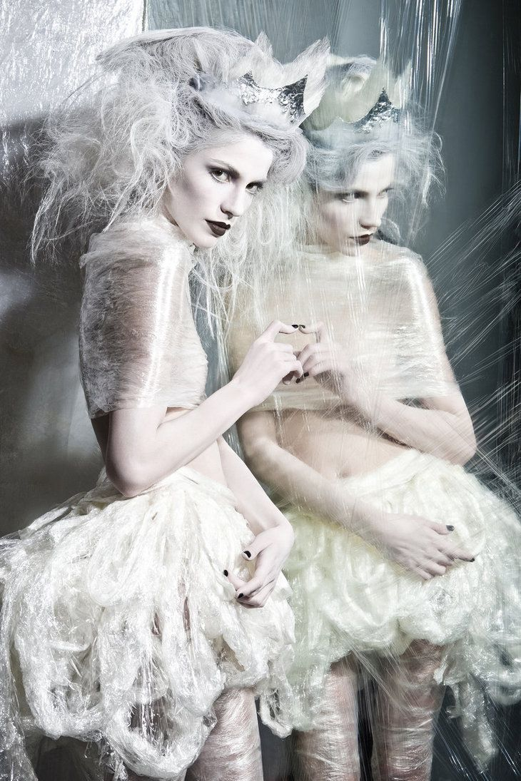 : Snow Queen, Ice Queen, Ice Princesses, Cold Fashion, White Parties, Icequeen, Fashion Photography, Plastic Wraps, Snowqueen