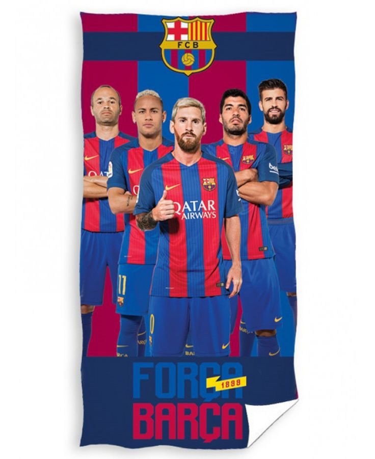 This FC Barcelona Players Towel is ideal for use at the beach, pool or at home and features Neymar, Suarez, Messi, Iniesta and Piqué. Free UK delivery available