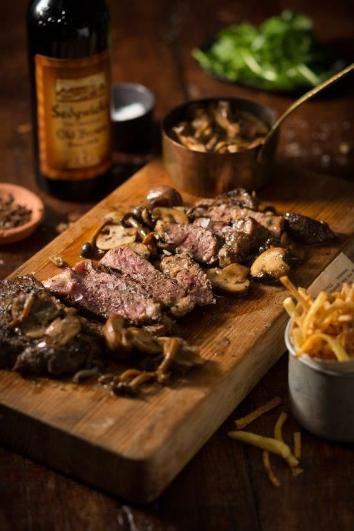"""The Captain's Saucy Steak. A steak made with Old Brown sherry 